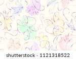 seamless pattern of the... | Shutterstock .eps vector #1121318522