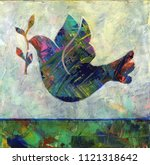 abstract acrylic painting of a... | Shutterstock . vector #1121318642