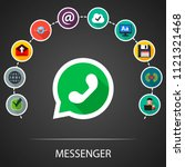 whats app flat icons concept.... | Shutterstock .eps vector #1121321468