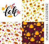 set seamless pattern with... | Shutterstock .eps vector #1121325062