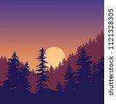 natural landscape of sunset in... | Shutterstock .eps vector #1121328305