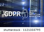 gdpr  general data protection... | Shutterstock . vector #1121333795