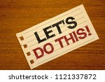 writing note showing  let us do ... | Shutterstock . vector #1121337872