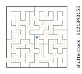 simple maze with path solution   Shutterstock .eps vector #1121343155