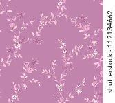 delicate curl pattern seamless... | Shutterstock . vector #112134662