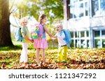 children go back to school.... | Shutterstock . vector #1121347292