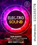 electro sound party music... | Shutterstock .eps vector #1121353778
