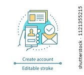 account creating concept icon.... | Shutterstock .eps vector #1121355215