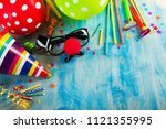 concept birthday party | Shutterstock . vector #1121355995