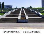 stairs to the gulf of cheboksary   Shutterstock . vector #1121359808