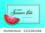 summer time banner with pieces... | Shutterstock .eps vector #1121361266