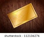 gold frame with space for text... | Shutterstock .eps vector #112136276