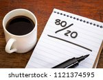 pareto principle or eighty... | Shutterstock . vector #1121374595
