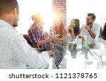 rear view. businessman... | Shutterstock . vector #1121378765