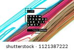 trendy acid colors fluid shapes ... | Shutterstock .eps vector #1121387222
