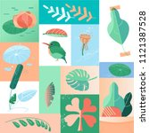 Summer Tropical Day Icons...
