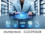 kpi key performance indicator... | Shutterstock . vector #1121392628