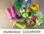 healthy eating of ketogenic... | Shutterstock . vector #1121395355