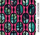 trendy seamless pattern in... | Shutterstock .eps vector #1121426288