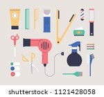 hairdresser beauty tools icon... | Shutterstock .eps vector #1121428058