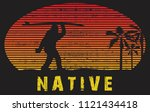 Stock vector the sunset bigfoot 1121434418