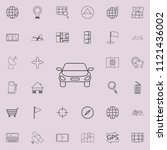 a car icon. detailed set of...