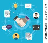 cooperation strategy and... | Shutterstock .eps vector #1121443475