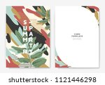 botanical summer party... | Shutterstock .eps vector #1121446298