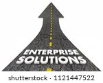 enterprise solutions business... | Shutterstock . vector #1121447522