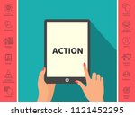 action button symbol | Shutterstock .eps vector #1121452295
