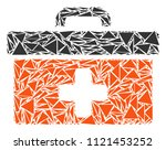 first aid toolbox mosaic of... | Shutterstock .eps vector #1121453252