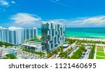 aerial view of south beach ... | Shutterstock . vector #1121460695