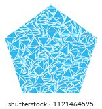 filled pentagon mosaic of... | Shutterstock .eps vector #1121464595