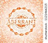 aberrant orange mosaic emblem...   Shutterstock .eps vector #1121466215