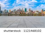 urban skyscrapers with empty... | Shutterstock . vector #1121468102