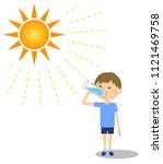 boy drinkng water   Shutterstock .eps vector #1121469758