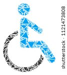 disabled person mosaic of... | Shutterstock .eps vector #1121473808