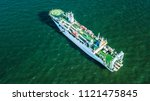cable laying ship anchored in... | Shutterstock . vector #1121475845
