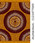 textile fashion african print... | Shutterstock .eps vector #1121477045