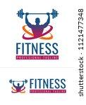 fitness logo in vector format   Shutterstock .eps vector #1121477348