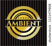 ambient gold badge | Shutterstock .eps vector #1121479808