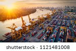 logistics and transportation of ... | Shutterstock . vector #1121481008