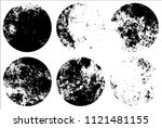 set of grunge textures in black ... | Shutterstock .eps vector #1121481155
