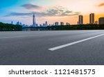 air highway asphalt road and... | Shutterstock . vector #1121481575