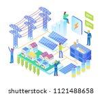 modern isometric smart... | Shutterstock .eps vector #1121488658
