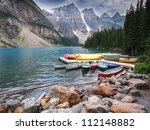 moraine lake  banff national... | Shutterstock . vector #112148882