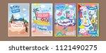 set of summer illustration for... | Shutterstock .eps vector #1121490275
