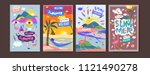 set of summer illustration for...   Shutterstock .eps vector #1121490278