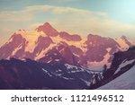 mount shuksan in washington  usa | Shutterstock . vector #1121496512