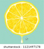 fruit  cut  lemon  pattern ... | Shutterstock .eps vector #1121497178